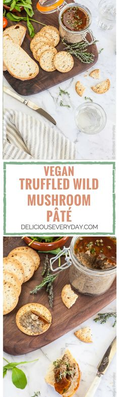 This gorgeous Mushroom Pate is a beautiful vegan pâté flavoured with wild mushrooms and a whisper of fragrant truffle oil. Serve with toasted sourdough and your favourite crackers, along with a glass of wine.
