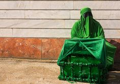 https://flic.kr/p/BgiExr | iranian shiite muslim woman on the day of tasua with her face covered by a green veil and collecting money in a craddle, Lorestan Province, Khorramabad, Iran | © Eric Lafforgue www.ericlafforgue.com