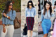 Como usar camisa jeans