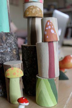 """mushroom """"totem""""---neat idea"""