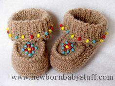 Crochet Baby Booties baby moccasins - free crochet pattern