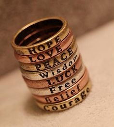 Fashion Engraved Letters Band Ring