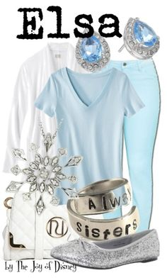 Casual outfit inspired by Elsa from the movie Frozen!
