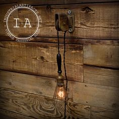 Vintage Industrial Cast Iron Pulley Wood di IndustrialArtifact, $295.00