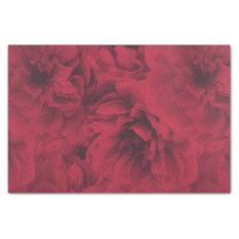 Red and Black Peony Tissue Paper