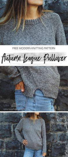 Autumn League Pullover pattern by Two of WandsYou can find Wands and more on our website.Autumn League Pullover pattern by Two of Wands Jumper Knitting Pattern, Knitting Patterns Free, Knitting Sweaters, Easy Sweater Knitting Patterns, Stitch Patterns, Crochet Pullover Pattern, Pullover Sweaters, Cowl Patterns, Jumper Patterns