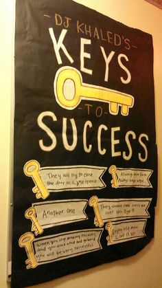 Resident advisor bulletin board - DJ Khaled's Keys to Success -RA Inspiration
