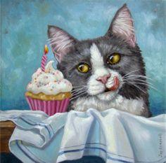 """This is Kitty Having a Birthday"" par Joy Campbell"