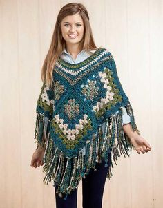 Picture of Boho Chic Crochet Ponchos