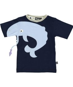 Ubang Babblechat Great Summer T-shirt with Hungry Whale. ubang-babblechat.en.emilea.be