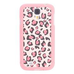 Pink Leopard Pattern 3 in 1 Bumper & Back Case Cover for Samsung Galaxy S4 i9500