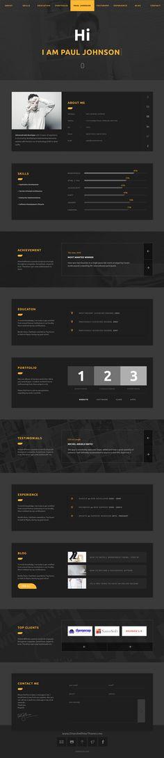 Professional Resume   Portfolio HTML Template Professional resume - resume html template