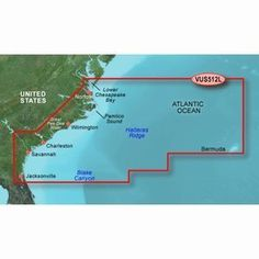 New-GARMIN VUS512L MID ATLANTIC BLUECHART G2 VISION - 30406 by Garmin. $299.00. VUS512L Covers:Coverage of the East Coast from Barnegat Inlet, NJ through Jacksonville, FL, to Bermuda. Coverage includes the Delaware River to Trenton, NJ; the Chesepeake Bay in full; the Albemarle and Pamlico Sounds in full; Cape Fear, NC; the Savannah R. to Augusta, GA; and the St. Johns R. to Hastings, FL. Bathymetric coverage from Hudson Canyon to the Blake Escarpment, including the ...