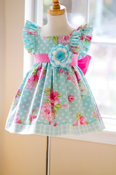 Summer is our favorite time of year to produce some of the loveliest floral and cute dresses. Little Girl Outfits, Cute Outfits For Kids, Little Girl Fashion, Little Girl Dresses, Kids Fashion, Baby Girl Dresses, Baby Dress, Cute Dresses, Dot Dress
