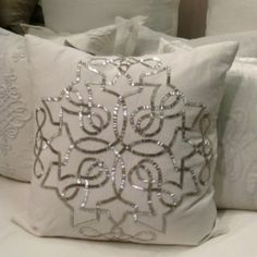 Callisto home jewelry beaded pillows To die for! - - Callisto home jewelry beaded pillows To die for! Jennifer Brouwer Callisto home jewelry beaded pillows To die for! Diy Pillows, Cushions, Throw Pillows, Ribbon Embroidery, Embroidery Patterns, Cushion Covers, Pillow Covers, Decorative Items, Decorative Pillows