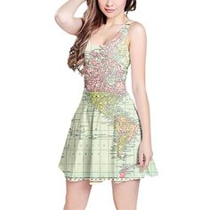 Antique World Map 1913 Sleeveless Dress - S XS-3XL Skater Stretch Flare Dress Queen of Cases http://www.amazon.com/dp/B0182HMGJU/ref=cm_sw_r_pi_dp_.t7Rwb13PHFRJ