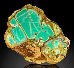 "bijoux-et-mineraux: ""Variscite with Crandallite and Wardite - Little Green Monster Variscite Mine, Clay Canyon, Fairfield, Oquirrh Mts, Utah Co., Utah """