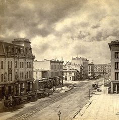 Downtown Milwaukee, 1871  Remarkably, many of these buildings still stand today on Wisconsin Avenue.