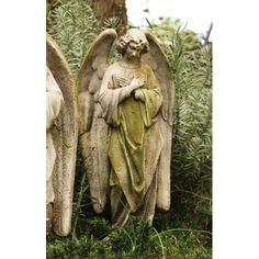 Features:  -Handmade and outdoor safe.  -Made in USA.  -Angels collection.  Product Type: -Statue.  Color: -White.  Distressed: -Yes.  Style: -Vintage.  Material: -Stone.  Theme: -Religious.  Country