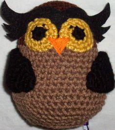 Amigurumi Owl - crochet free pattern.