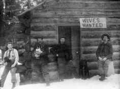 These men were looking for wives to share their rural lifestyle with. Note the cat. Even in the early days, men knew what would really bring in the ladies by the droves.