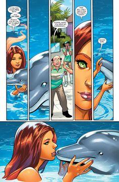 Teen Titans Starfire, Nightwing And Starfire, Starfire Comics, Comic Book Characters, Comic Character, Comic Books, Character Design, Anime Comics, Dc Comics