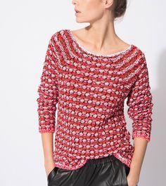 maje MARCEL Jacquard Sweater at Maje US