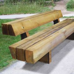 Heavy-Heavy Benches are massive, heavy-duty benches created to reflect Streetlife's characteristic natural look. The beams are secured on galvanized or CorTen steel cross-beam supports using the Streetlock® system.