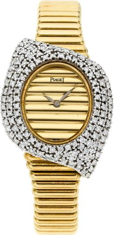 Piaget Very Fine Lady's Diamond & Gold Bracelet Watch