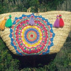 Risultati immagini per capazos decorados con crochet
