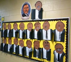 Martin Luther King Jr writing /bulletin board