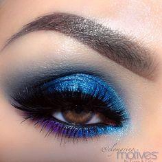 Blue smokey eye♡