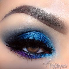 Blue smokey eye♡