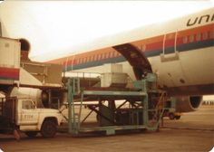 United Airlines cargo being loaded