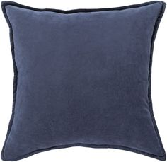 Carey 100% Cotton Velvet Throw Pillow Cover