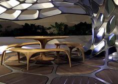 Zaha Hadid designs Volu dining pavilion for Design Miami.