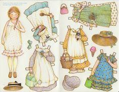 Holly Hobbie Greeting Paper Doll Card Rare Uncut Vintage Sweet Girl | eBay