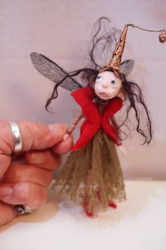 ooak poseable pissed off TINKER Woodland Fairy ( 209 ) fairy elf pixie art doll by DinkyDarlings by DinkyDarlings on Etsy
