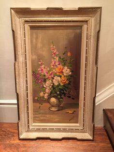 Greystone Fine Furniture - Original botanical oil white and gold frame 225