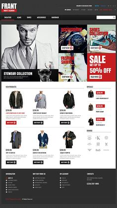 Custom eCommerce design and web development using Magento, oscommerce, WordPress and Php by Auckland based company TechIdea, New Zealand - call now Fashion Website Design, Website Design Inspiration, Ecommerce Website Design, Joomla Templates, Landing Page Design, Showcase Design, Website Template, Design Market, Style Store
