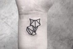 Origami fox tattoo #tattoo #fox