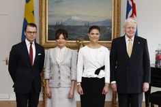 Crown Princess Victoria and Daniel meet the president of Iceland and his wife, 18.06.14