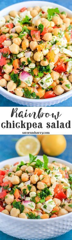 Mediterranean Chickpea Salad Recipe for Parties - Chickpea Recipes - Chick Pea Salad Recipes