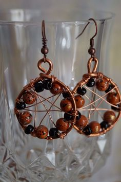 A personal favorite from my Etsy shop https://www.etsy.com/listing/227329990/copper-earrings-with-beads-and-copper