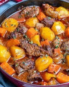 This Classic Homemade Beef Stew recipe is so easy to make and so heavenly. A one-pot meal that's hearty, flavorful and loaded with tender beef morsels, potatoes, and carrots. potato al horno asadas fritas recetas diet diet plan diet recipes recipes Homemade Beef Stew, Easy Beef Stew, Beef Stew Stove Top, Beef Stew Red Wine, Slow Cooked Beef Stew, Beef Stew Crock Pot, Making Beef Stew, Dutch Oven Beef Stew, Roast Beef