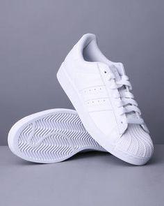 adidas superstar white on white