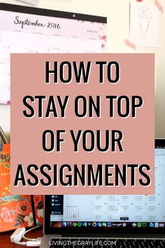 Here's How to Stay on Top of Your Assignments - Living the Gray Life Staying organized and on top of assignments in college will help you from forgetting homework and not achieving the grades you want. Stay on top of your assignments with these tips! College Success, College Notes, College Hacks, Homework College, College Essentials, College Notebook, College Checklist, Online College Classes, Education College