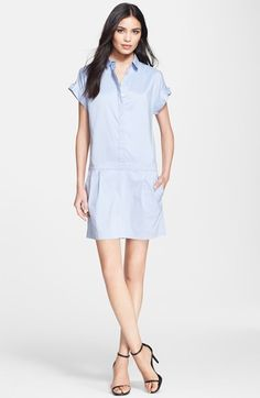 Free shipping and returns on Trina Turk 'Evelyn' Cold Shoulder Cotton Blend Shirtdress at Nordstrom.com. A soft yet structured shirtdress is updated for the season with split button-cuff sleeves and a pleated, pocketed skirt.