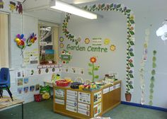 Garden Centre role-play area classroom display photo - Photo gallery - SparkleBox Need to create something like this!