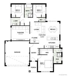Our home designs are some of the best around and you get all the good stuff included as standard, like glamorous Essastone benchtops and impressive appliances. Duplex Floor Plans, House Floor Plans, House Layout Plans, House Layouts, Best House Plans, Small House Plans, House Plans Australia, Three Bedroom House Plan, Design Your Own Home